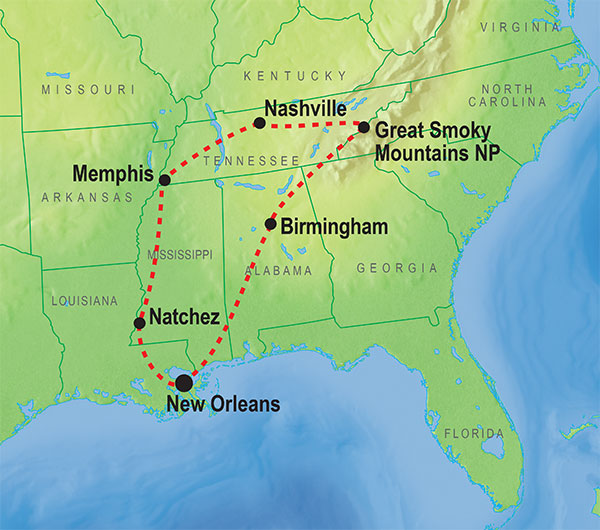 Exciting Trips And Fantastic Adventures In New Orleans KILROY - Map usa new orleans
