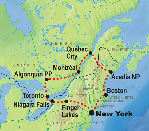 Exciting Trips And Fantastic Adventures In Canada KILROY - Map of north east usa and canada