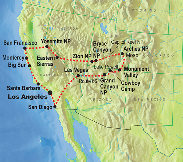 National Parks In USA Explore USAs Wilderness With KILROY - Western us map with national parks